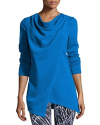 Marc New York Marc Ny Performance Yummy Asymmetric Fleece Tunic Skydiver