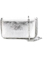 Paco Rabanne Chain Mail Cross Body Bag Grey