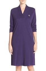 Women's Lauren Ralph Lauren 'Emsworth' Cotton Nightgown Aubergine