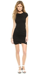 Pam And Gela Twisted Dress With Short Sleeves Black
