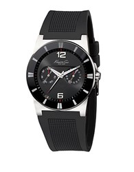 Kenneth Cole Mens Wide Black Band Watch