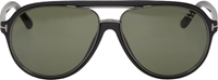Tom Ford Matte Black Polarized Lens Racer Sunglasses