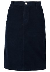 Gant Pencil Skirt Evening Blue Dark Blue