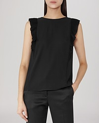 Reiss Blouse True Fluid Sleeveless Black