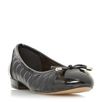 Linea Helina Quilted Ballerina Pumps Black