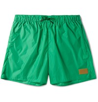 Acne Studios Perry Short Length Swim Shorts Green