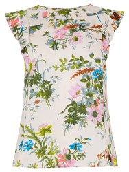 Oasis Rosanna Frill Detail Floral Top Multi