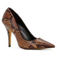 Aldo Elisia Pointy Toe High Heel Shoes Rust