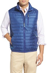 Men's Vineyard Vines 'Mountain Weekend' Quilted Vest Baltic Blue