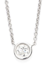 Bony Levy Medium Diamond Solitaire Pendant Necklace Limited Edition Nordstrom Exclusive White Gold