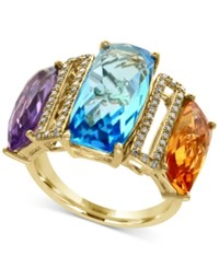 Effy Multi Gemstone 13 Ct. T.W. And Diamond 1 5 Ct. T.W. Ring In 14K Gold Yellow Gold