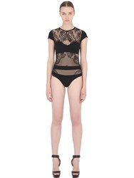Christies Lace And Microfiber Bodysuit