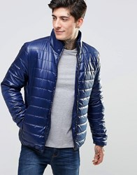 Only And Sons Quilted Jacket Navy