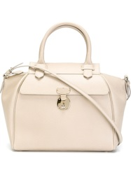 Giorgio Armani Medium Bowling Tote Nude And Neutrals