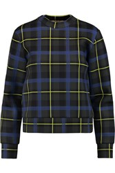Etre Cecile Plaid Neoprene Sweatshirt Green