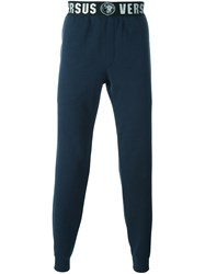 Versus Logo Waist Tapered Joggers Blue