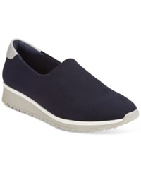 Impo Ruba Slip On Casual Wedges Women's Shoes Navy
