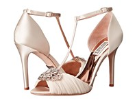 Badgley Mischka Darling Ivory Satin Silk Chiffon Women's Dress Sandals White