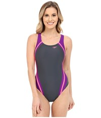 Speedo Quantum Splice One Piece Party Pink Women's Swimsuits One Piece