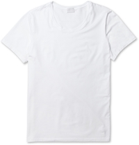Hanro Mercerised Cotton Blend T Shirt White