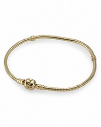 Pandora Design Pandora Bracelet 14K Gold With Signature Clasp 18 Cm Moments Collection