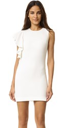 Elizabeth And James Luca Ruffle Dress Ivory