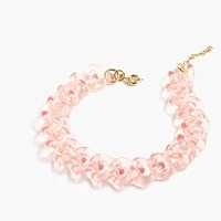 J.Crew Lucite Link Necklace Pink Blush