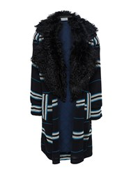 Preen Pf16 Lindner Coat A Version With Fur Collar Lining Black
