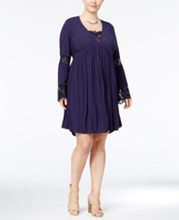 American Rag Trendy Plus Size Babydoll Peasant Dress Only At Macy's Eclipse