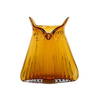 Magpie The Modern Home Vern Owl Vase Amber