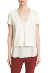 Theory Women's Zadeia V Neck Top With Camisole