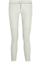 Isabel Marant Kerry Cropped Stretch Leather Skinny Pants White