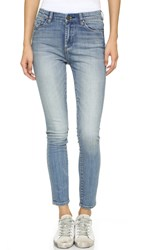 Blank High Rise Ankle Skinny Jeans Bump And Run