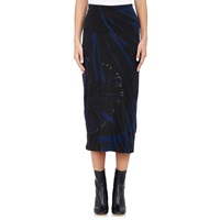 Raquel Allegra Tie Dyed Maxi Skirt Black And Blues Tie Dye