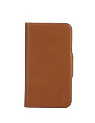 Polo Ralph Lauren Burnished Leather Samsung Phone Case Brown