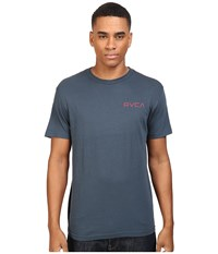 Rvca Double Rope Tee Midnight Men's T Shirt Navy