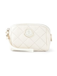 Moncler Quilted Make Up Bag Nude And Neutrals