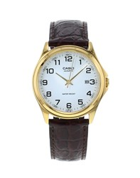 Casio Mtp 1188Pq 7Bef Gold Watch On Brown Leather Strap