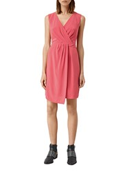 Allsaints Peak Dress Sorbet Pink
