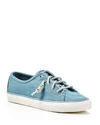 Sperry Seacoast Lace Up Sneakers Ash Blue