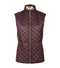 Burberry Tindale Diamond Quilted Gilet Female Burgundy