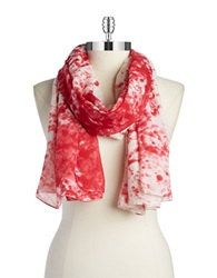 William Rast Splatter Scarf Red