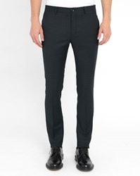 Paul Smith Navy Micro Dot Wool Slim Fit Trousers Blue