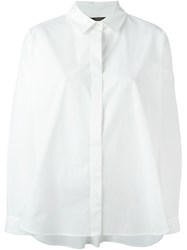 Odeeh Boxy Shirt White