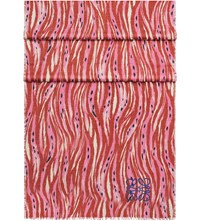 Loewe Abstract Animal Print Wool Silk And Cashmere Blend Shawl Red Pink
