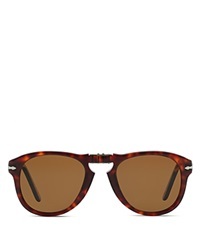 Persol Folding Keyhole Sunglasses Brown