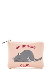 Forever 21 Do Nothing Club Coin Purse Pink Multi