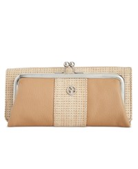 Giani Bernini Straw Look Woven Frame Clutch Wallet Only At Macy's