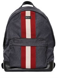 Bally Web Nylon Backpack