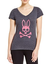 Psycho Bunny Bunny V Neck Tee Medium Gray
